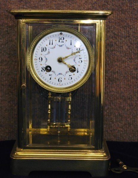 8: TIFFANY CRYSTAL REGULATOR  CLOCK CIRCA 1900S
