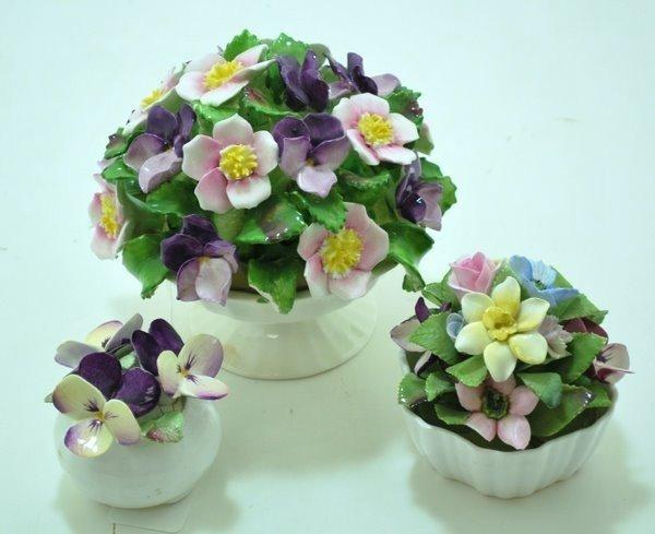 20: FINE ENGLISH BONE CHINA FLOWER BOUQUETS