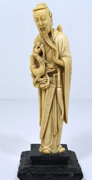 3: 1800'S IVORY CARVING OF OLD MAN