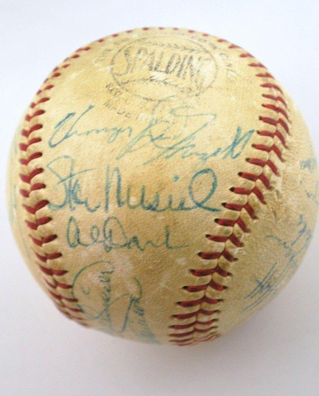 15C: 1958 ST. LOUIS CARDINALS TEAM SIGNED BASEBALL