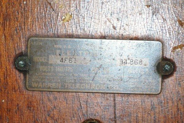 12: RARE 1934 TELECHRON CLOCK - 3