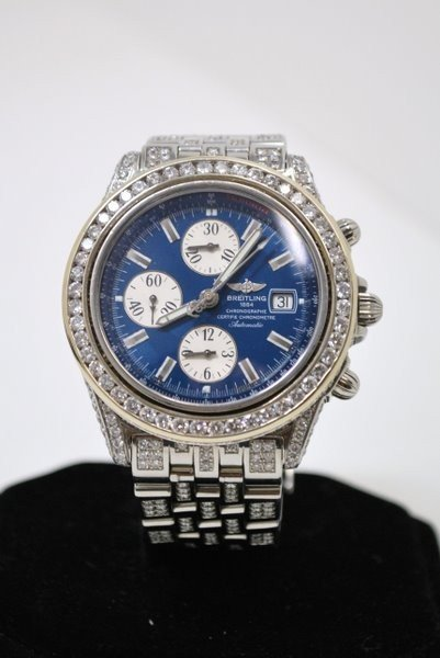 20D: MENS S/S BREITLING WINDRIDER 11.00CT