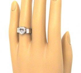 104: LADIES 18KT W.G. CHOPARD HAPPY DIAMOND RING
