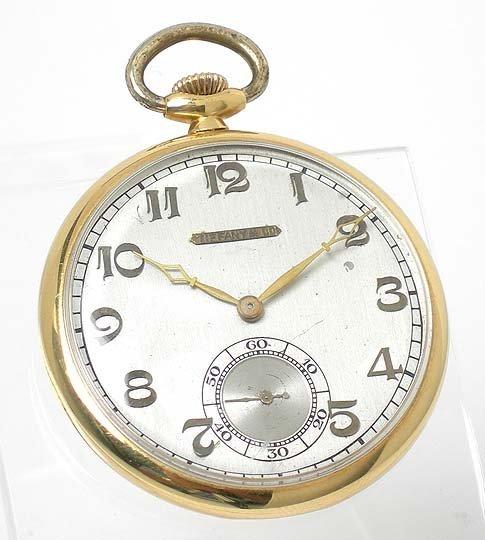 112: 18KT Y.G. TIFFANY POCKETWATCH FOR LONGINES