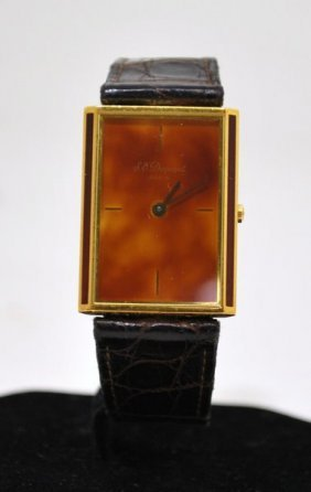 116: 18KTY.G. PLATED UNISEX ST DUPONT WATCH