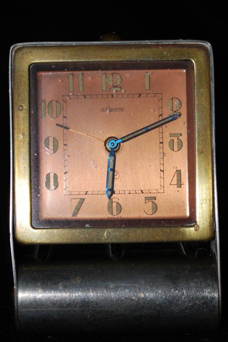 120: 1930S LECOULTRE TRAVEL CLOCK