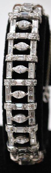 140: PLATINUM ESTATE 12.00CT DIAMOND BRACELET
