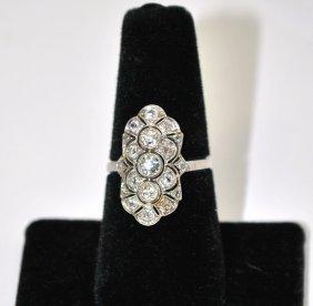 120A: 18KT W.G. 2.00CT EDWARDIAN DIAMOND RING
