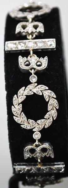 19: CIRCA 1800'S EDWARDIAN DIAMOND BRACELET 5.00CT