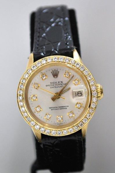 20: LADIES DIAMOND ROLEX PRESIDENT