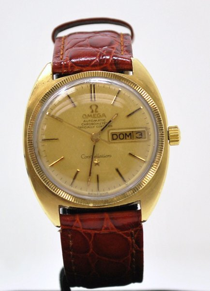 1: 18KT GOLD TOP OMEGA CONSTELLATION CHRONO