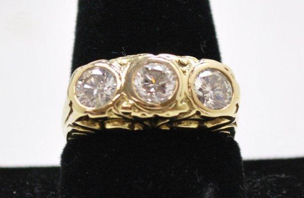 2: 14KT Y.G. 2.25 CT DIAMOND RING