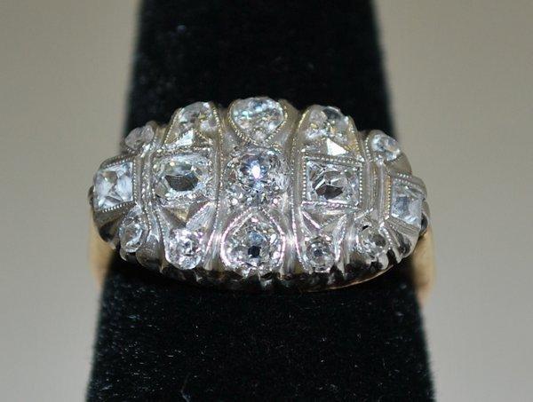 12: PLATINUM/14KT Y.G. 1.00CT DIAMOND RING