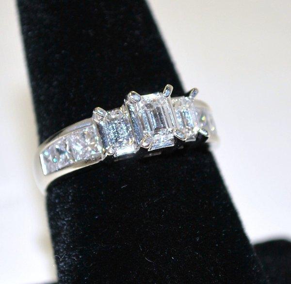 16: 14KT W.G. 1.50CT DIAMOND ENGAGEMENT RING