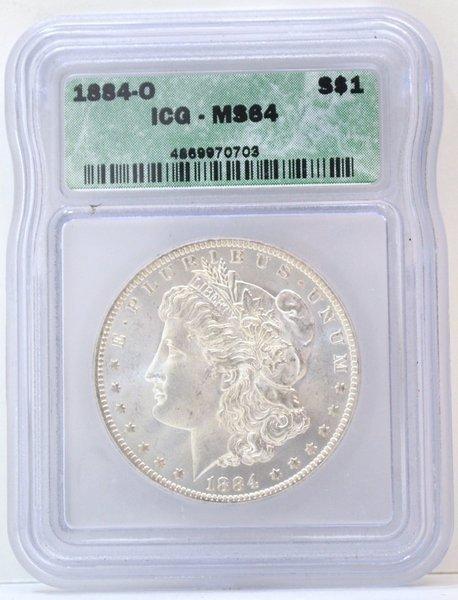 105: 1884-O MORGAN SILVER DOLLAR