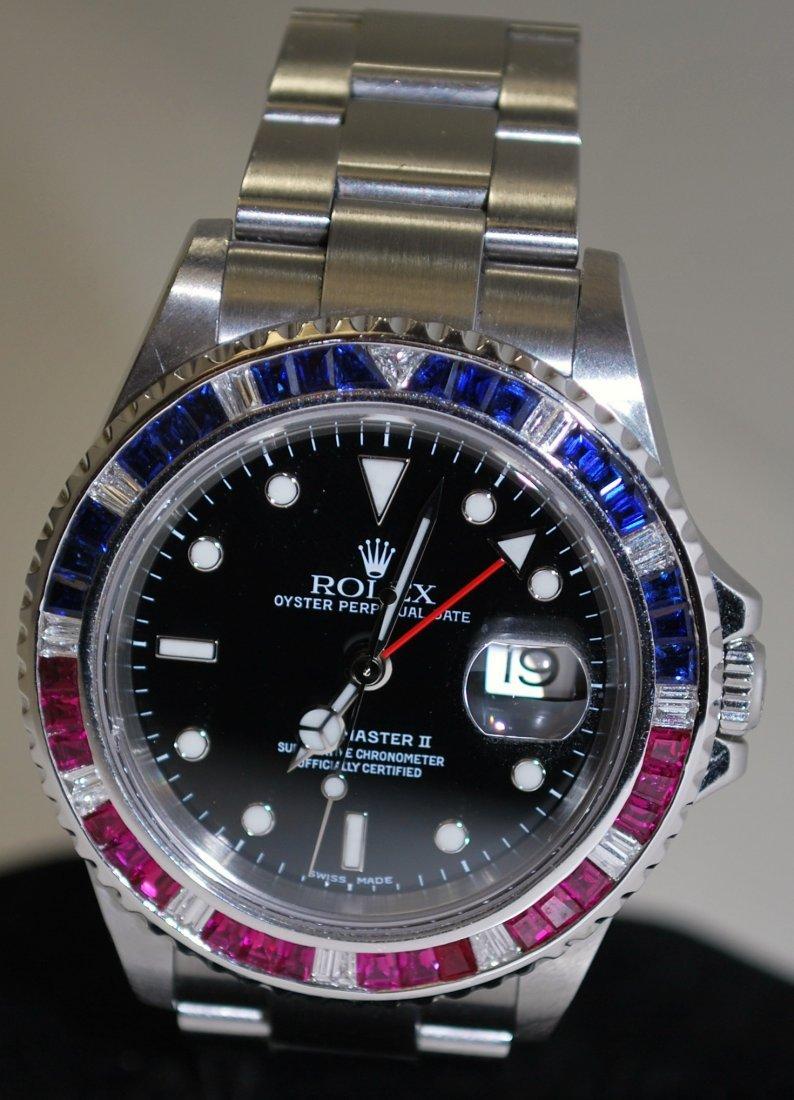 129: ROLEX S/S GMT MASTER II CIRCA 2004