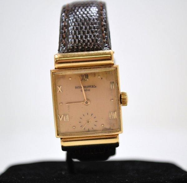 119A: PATEK PHILIPPE 18KT R.G. W/ BOX AND PAPERS