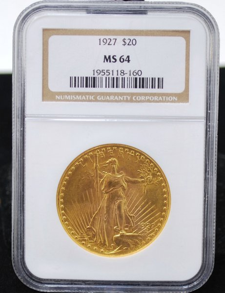 16: $20 ST. GAUDENS 1927 US GOLD COIN