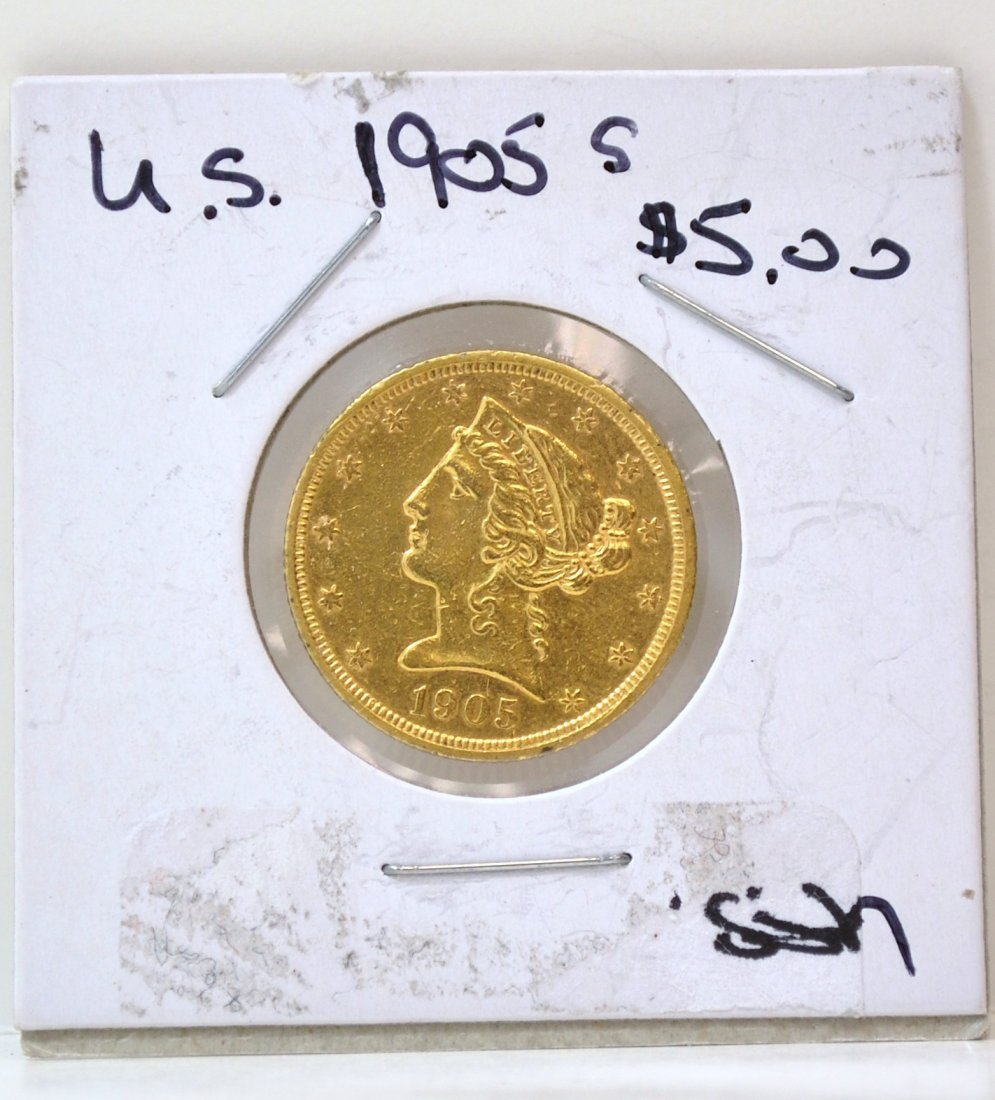 3: US $ 5 GOLD LIBERTY COIN