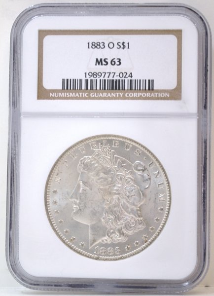 1: 1883 MORGAN SILVER DOLLAR