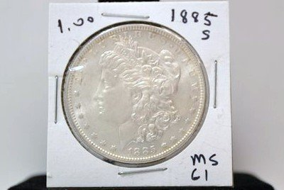 4: 1885 O MORGAN DOLLAR