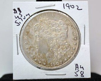 20: 1902 MORGAN SILVER DOLLAR