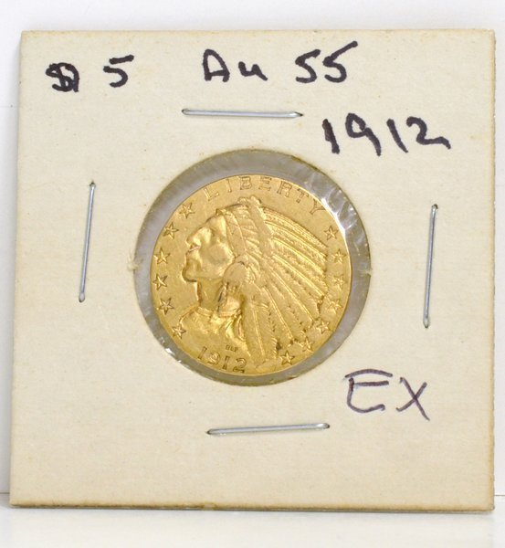 21: GOLD $5.00 US INDIAN 1912