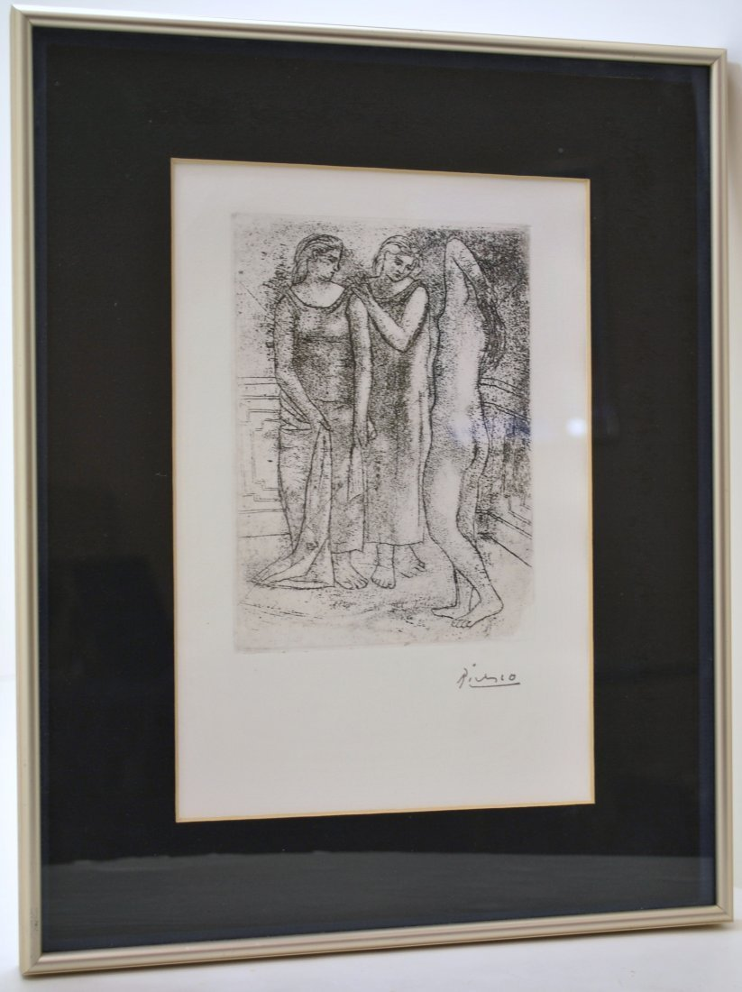 "12: FRAMED PABLO PICASSO ETCHING ""THREE GRACES"""