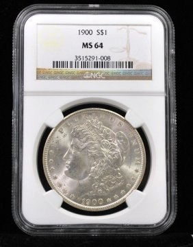 1900 $1 MORGAN SILVER DOLLAR MS64 NGC