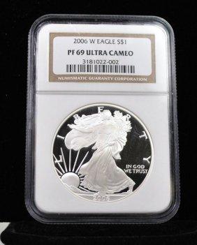2006 $1 SILVER LIBERTY PF 69 ULTRA CAMEO