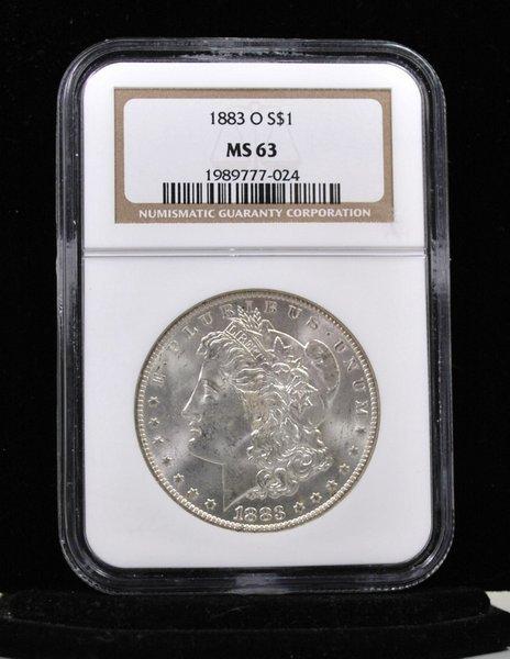 1883 O $1 MORGAN SILVER DOLLAR MS 64