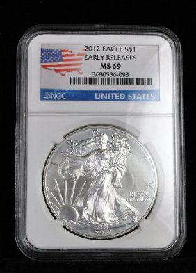 2012 $1 SILVER LIBERTY EARLY RELEASE MS 64 NGC