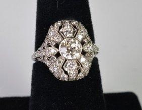 PLATINUM ART DECO 2.25 CT DIAMOND RING