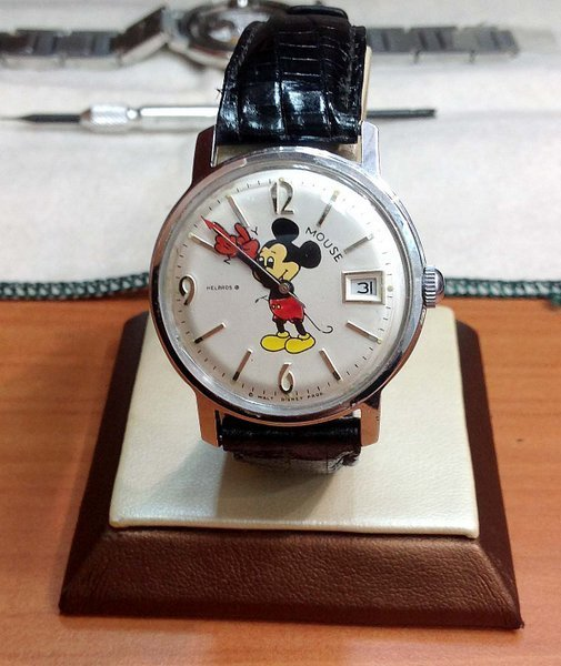 VINTAGE HELBROS MICKEY MOUSE WATCH