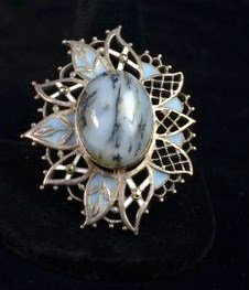 FRENCH STERLING AGATE  PIN
