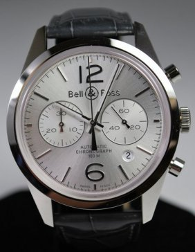 BELL & ROSS S/S AUTOMATIC CHRONOGRAPH NEW