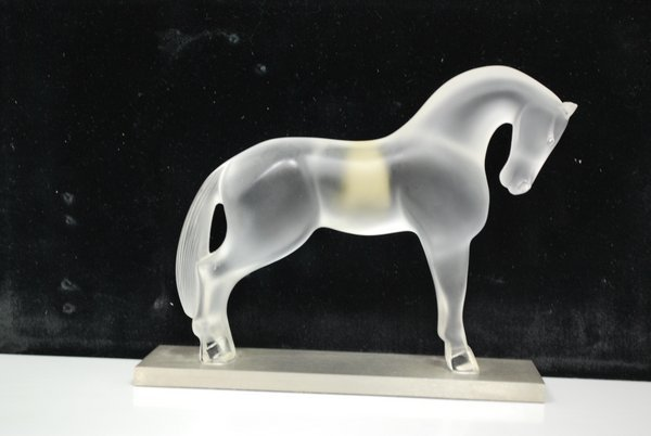 FROSTED LALIQUE HORSE