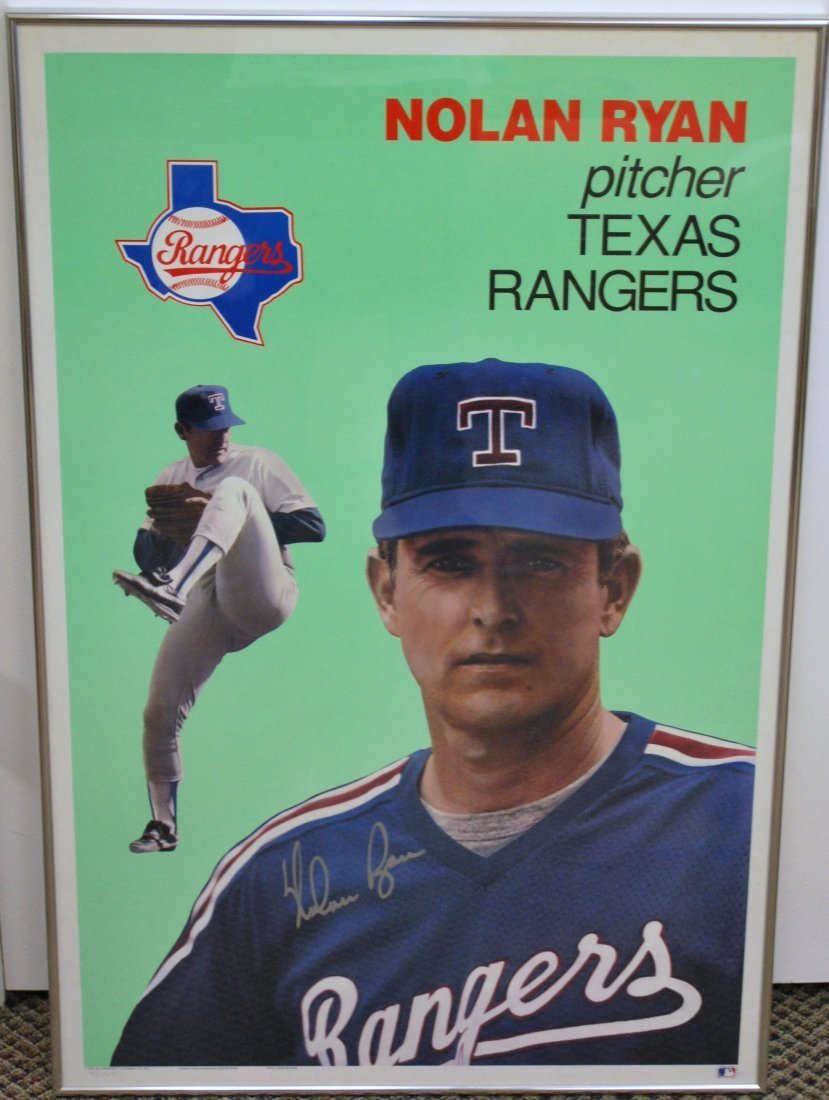 NOLAN RYAN SIGNED POSTER