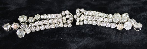 14KT W.G. 16.00CT DIAMOND EARRINGS