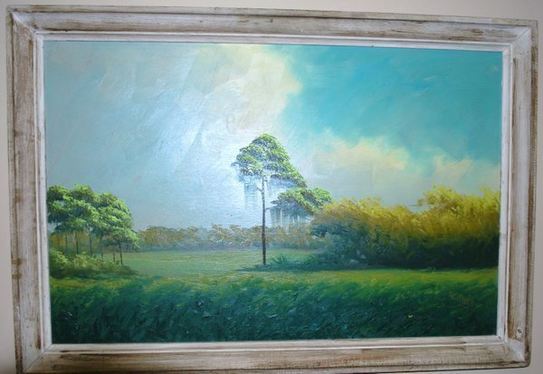 FLORIDA HIGHWAYMAN ALFRED HAIR OIL ON BOARD