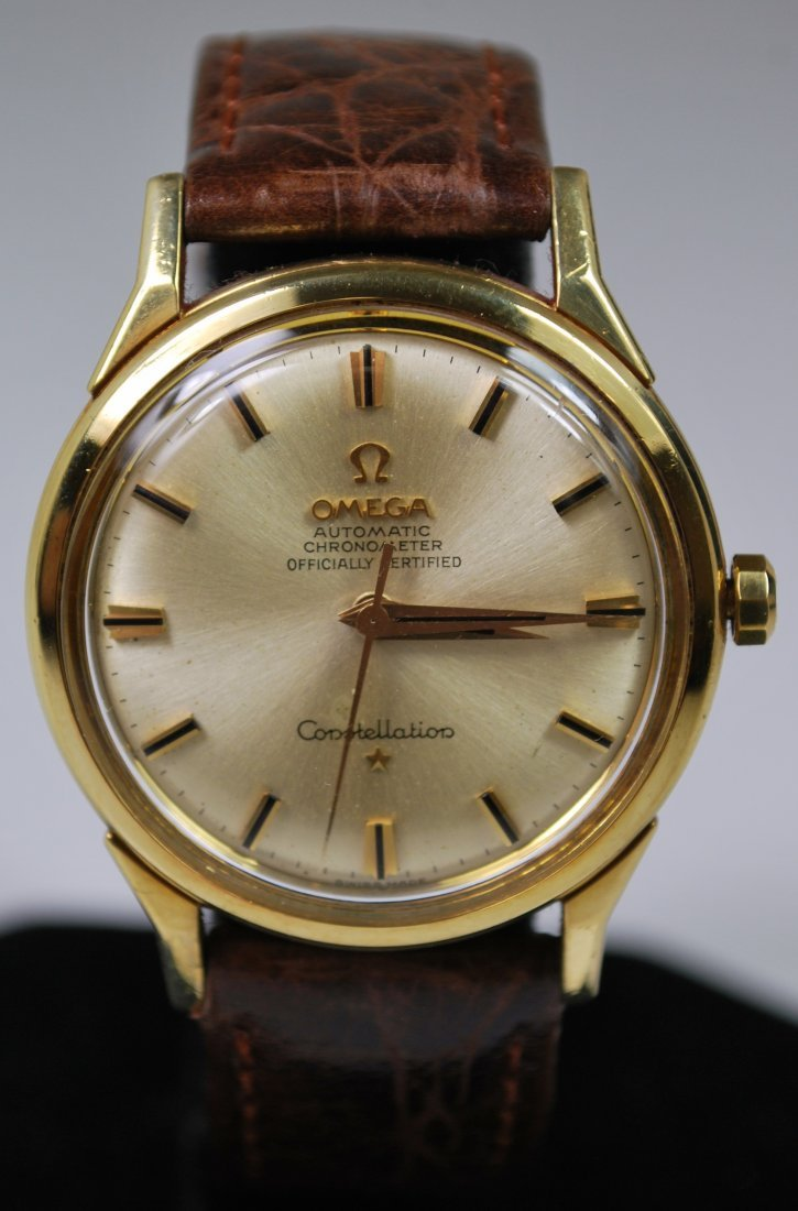 18KT Y.G. OMEGA CONSTELLATION