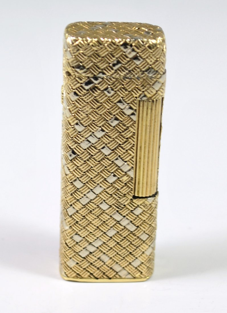 18KT 2 TONE DUNHILL CIGARETTE LIGHTER