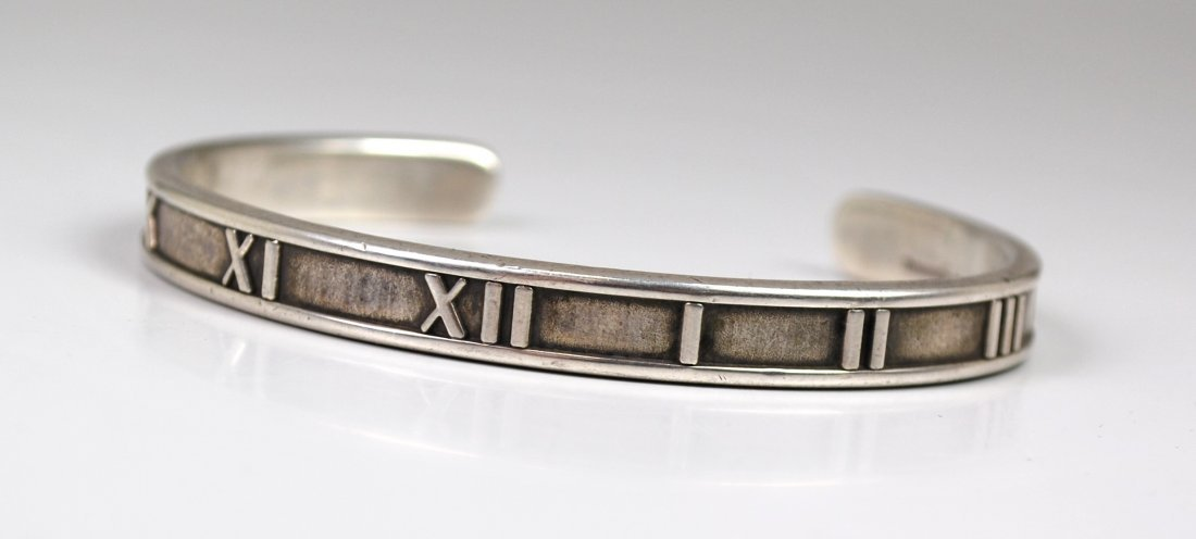 UNISEX STERLING TIFFANY ATLAS BANGLE