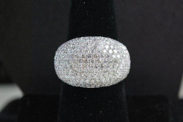 14KT W.G. 4.50CT DIAMOND DOME RING