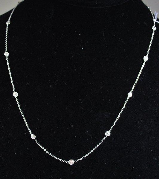 14KT W.G. 1.70CT DIAMOND NECKLACE