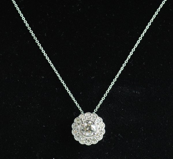 14KT W.G. 1.35CT DIAMOND PENDANT