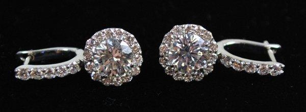 18KT W.G. 1.75CT DIAMOND EARRINGS