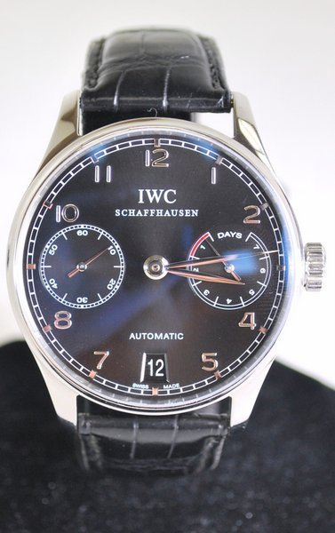MENS S/S IWC 7 DAY POWER RESERVE