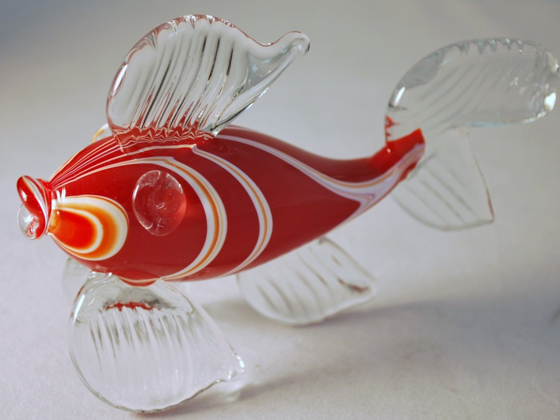 MURANO SYLE GLASS FISH