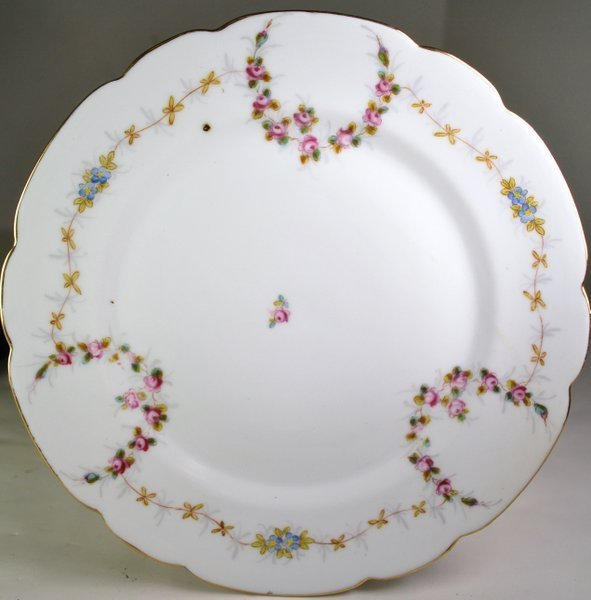 12 HAND PAINTED SCALLOP EDGED PLATES